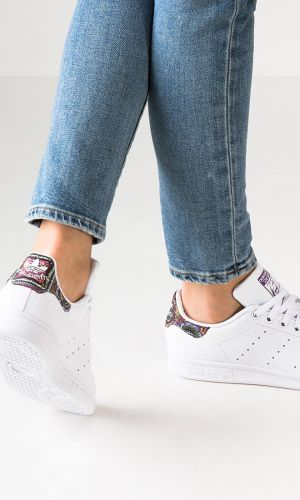 adidas Originals STAN SMITH - Baskets basses - white/mid grey