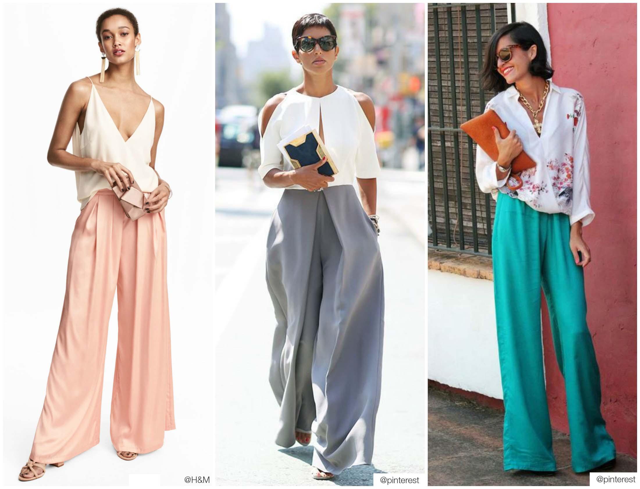 pantalon palazzo look classy
