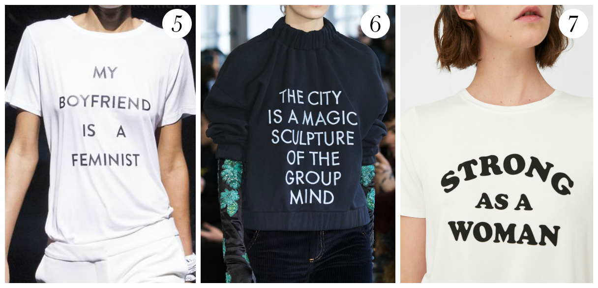 tee shirts à messages tendance hiver 2018 vers2