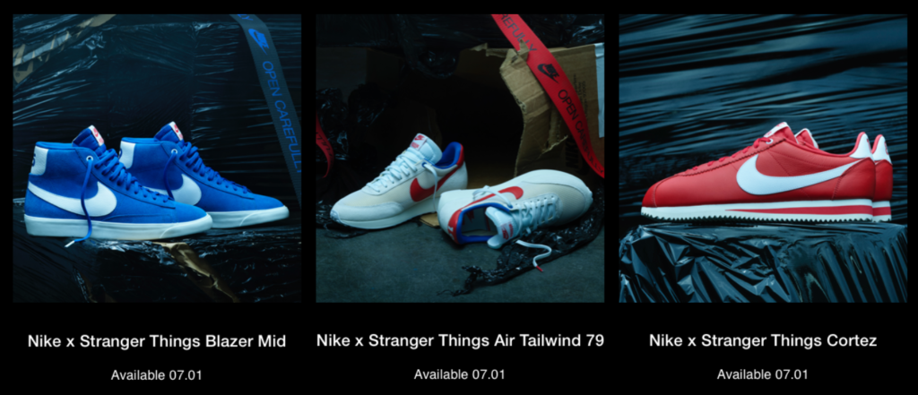 collab nike stranger things