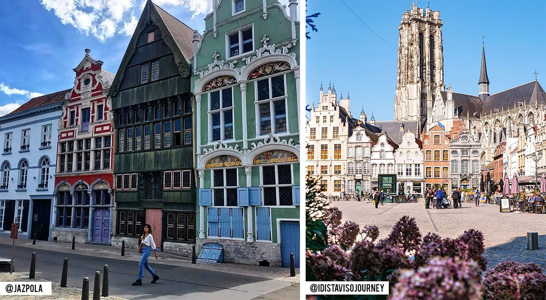 Haverwerf (à gauche) - Grote Markt (à droite)
